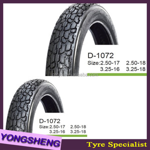Green Good Quality Motorcycle Tyres 3.00-8 3.00-10 3.50-10 D1072