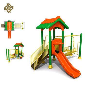 ea142bbe1a6 Qunzhen Mais Recente Produto Logotipo Livre Pequena Casa De Metal Balanço  Milagre Preschool Children Equipamentos de
