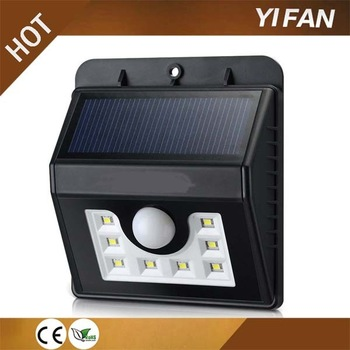 Solar Outdoor Lights 8 LED Cold White Light Motion Sensor Detection SMT Tech