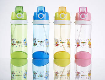 Wholesale Personalized Water Bottle For Kids/Children With fabric string And Straw