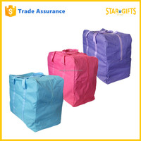 Wholesale Zipper Large Fabric Food Storage Bag With Different Colors