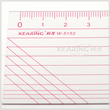 Kearing brand 5*50cm sewing quilting transparent plastic PVC ruler for handcraft #W5152