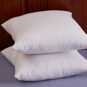 Decorative Pillow Insert (2 Pack) - Square 18x18 Sofa and Bed Pillow - Microfiber Cover Indoor White Pillows
