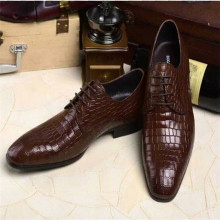 classic luxury branded top quality italian pure crocodile skin leather mens dress shoes