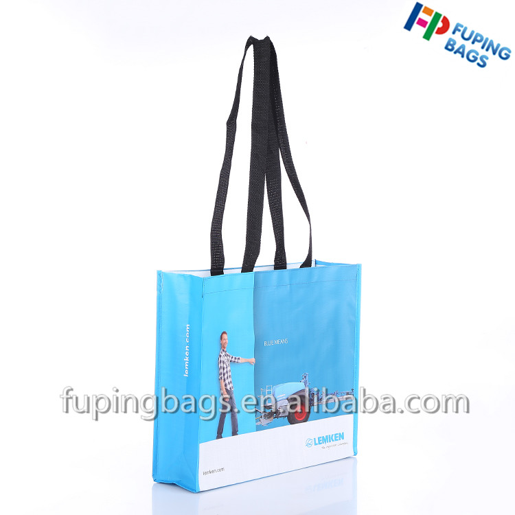 Waterproof bopp laminated pp non woven shopping hand bag