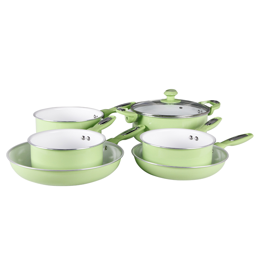 3-5 pcs OEM design non stick cookware set Cool Touch Handles, Oven Safe, PTFE and PFOA free