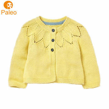 4424875181 China Manufacturer Custom 100% cotton baby clothing sweater design yellow  cardigan