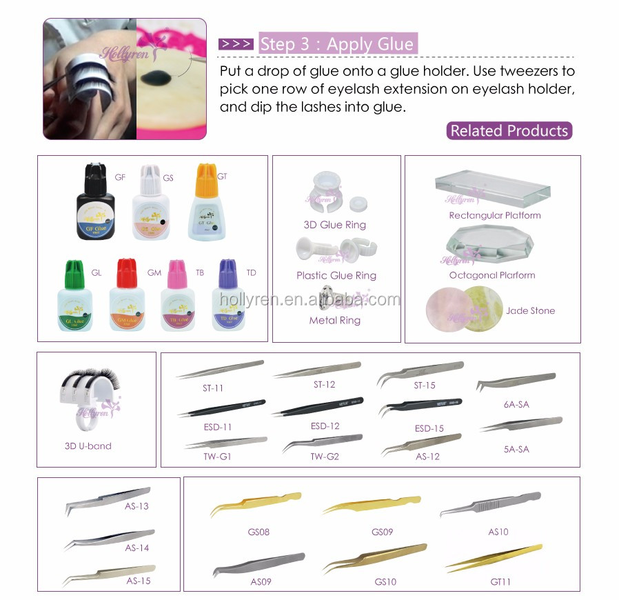 Top Quality StainlessTweezer for 3D 6D Volume Eyelash Extension Made In Japan AS-15