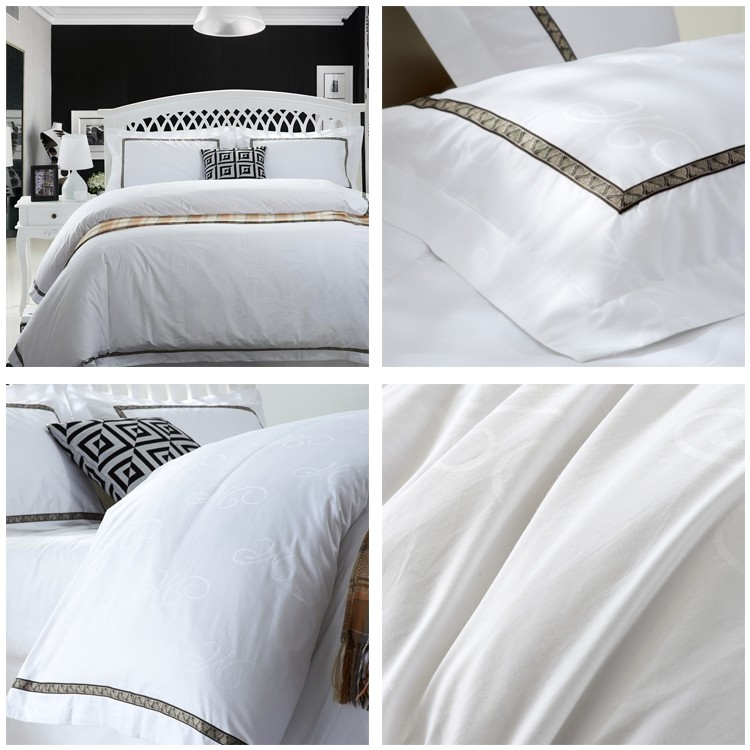 5 Star Luxury Hotel Fancy Bed Linen 100 Cotton Satin Bed Sheet Fabrics