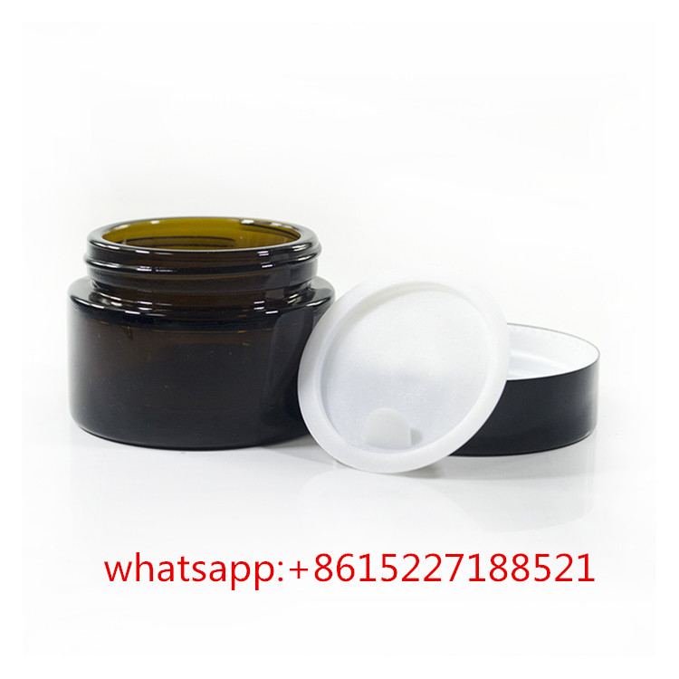 amber glass 20g 30g 50g face cream cosmetic jars