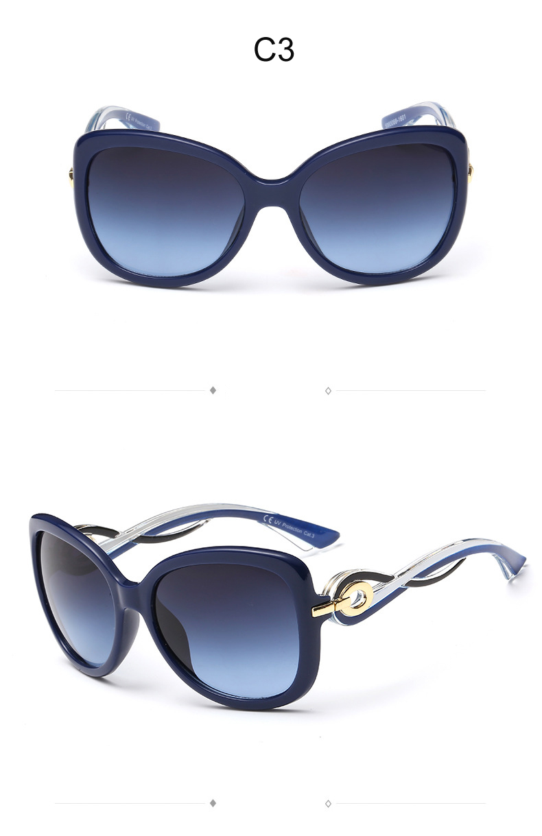 New vogue Cat eye Ladies Sunglasses women brand designer twist curve Fashion Summer sun glasses Party shades glasses CC0152