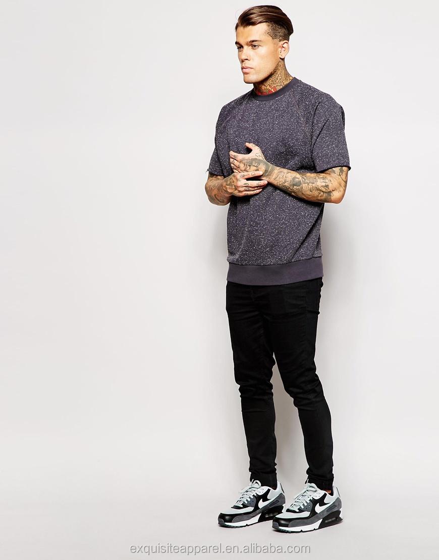 Custom 100% Cotton Short Sleeve Oversized Sweatshirts/mens French ...