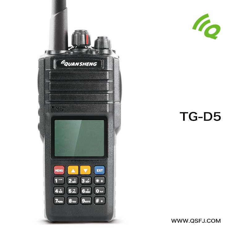5W Portable DMR Digital Ham Walkie Talkie TG-D5