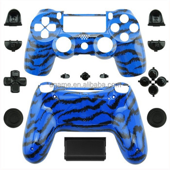 New Blue tiger Skin Shell For PS4 Playstation 4 Game Controller POP Accessories