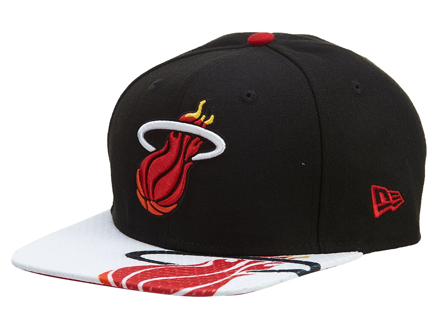 f5ac8b87372 Get Quotations · NBA New Era 9Fifty 950 Gym Class Miami Heat Snapback Hat  Cap Flat Bill Black