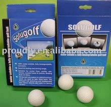 Cold water soluble biodegradable golf ball. Professional manufacturer of only water-soluble materials.