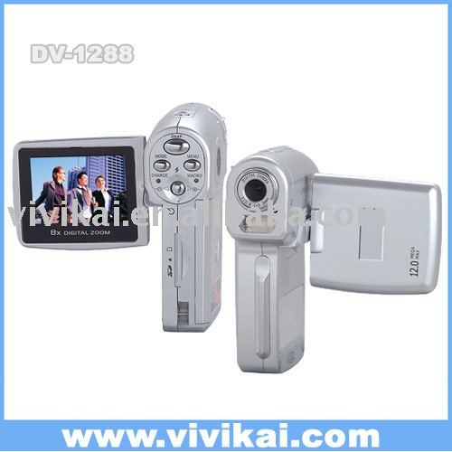 "low price mini HD digital camera/camera camcorder with 2.0""TFT LCD&Mp3&audio record&PC camera(DV-HD1288)"