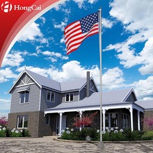 20 ft Aluminum Secional Flagpole, All Countries/Nations Flags, Custom Size & Flag Pole