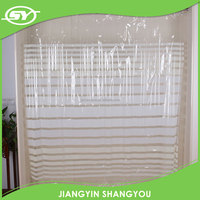 PVC water proof shower curtain liner with hooks