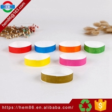 custom family Entertainment Professional disposable tyvek band , waterproof wrist band