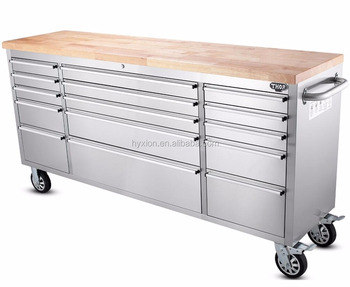 Hyxion Hot Sale 72 Inch Heavy Duty Tool Boxes With 8 Drawers Roller Tool Cabinets Work Bench On Wheels Buy Tool Cabinets Heavy Duty Tool