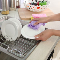 Lint Free Reusable Sponge For Washing Dishes Antibacterial Sponge Kitchen