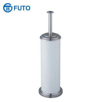 Colorful metal bathroom cleaning round Toilet Brush holder with plastic bottom