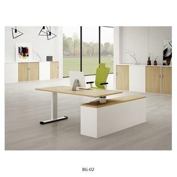 Wooden Commercial Office Furniture Modern Modular L Shape Height Adjule Director Manager Corner Executive Desk