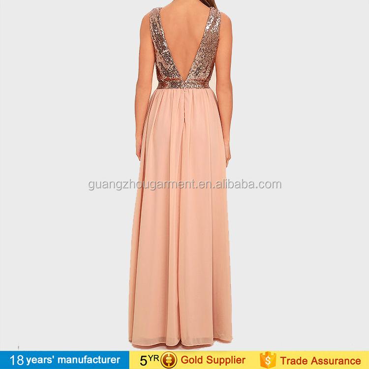 32fb6c5f828 Sexy deep v neck custom made chiffon sequin adult princess maxi dresses for  women sexy party