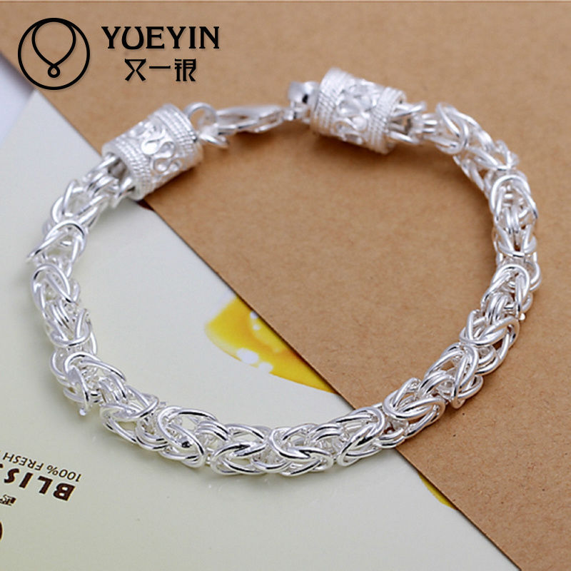 New Dragon Head antique silver infinity bracelet