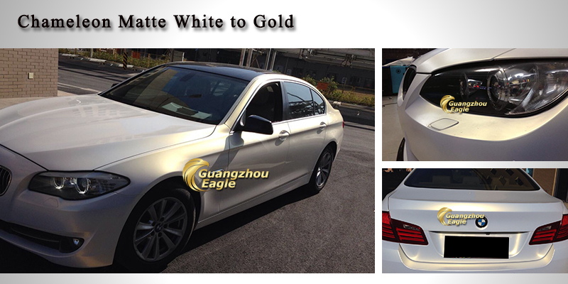 59 X21 8yds Matte Chameleon Pearl To Gold Car Vinyl Wrapping Film