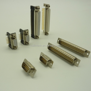 Top quality 9p 15p 25p 37p PCB mounting D sub power connector