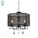 3-Light Round Metal Bronze ORB hotel lobby circle chandelier