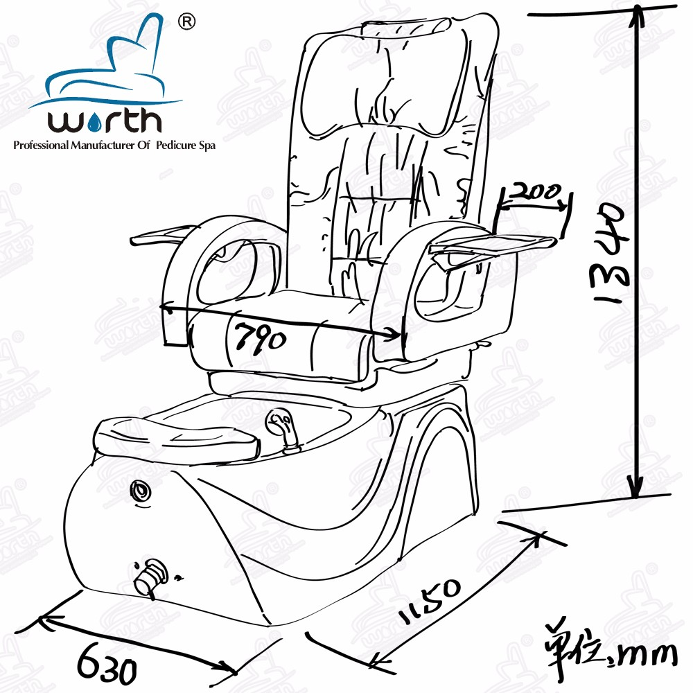 Pedicure chair dimensions - Hand Spa Equipment Electric Massage Pedicure Chair With Adjustable Footrest