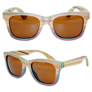 DLW-MB009 100% handmade polarized colorful custom white bamboo sunglasses