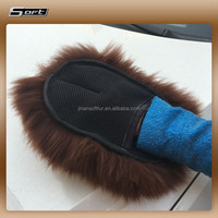 Lambswool Sheepskin Lambs Wool Car Wheel Cleaning Wash Pad Mitt Glove