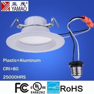 Yamao UL Listed Energy Star Certification Dimmable Soft White Wholesale Price 9.5W UL 4'' LED Downlight