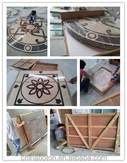 Marble Floor Pattern stone waterjet marble floor design/ tile round mosaic medallion