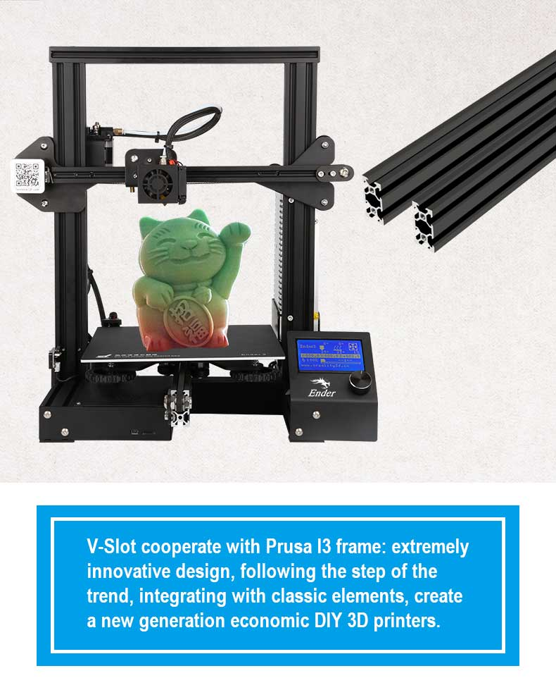Kleine Creality CR10 Ender-3 3D Printer