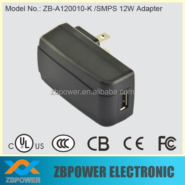 12 V Switching Power Adapter 12 W USB Dinding Pengisi