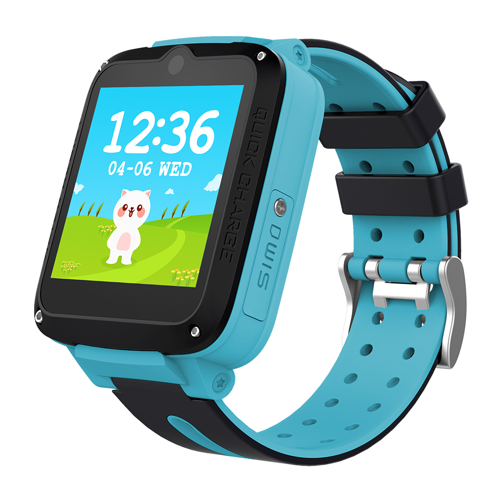 Wholesale MTK6737 WIFI Pedometer LCD Screen Camera GPS LBS Camera Kingwear Android 4G LTE Kids Smartwatch Wristwatches