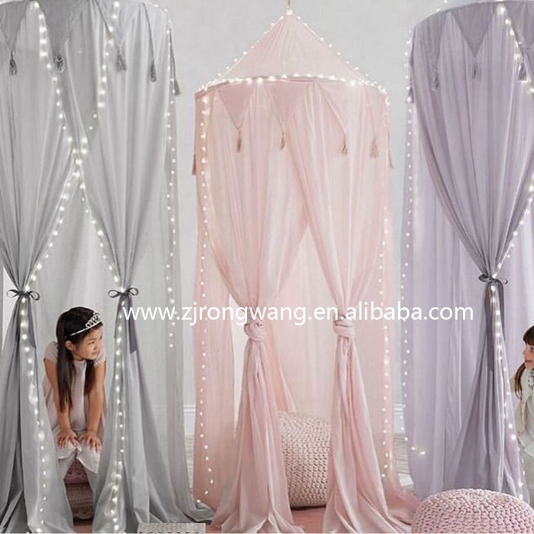 Best selling chiffon Summer dome mosquito bed net tent for kids room decoration