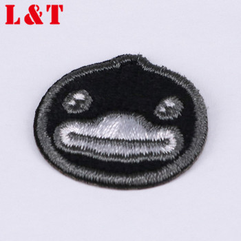 Best Selling Big Custum Bird Embroidered Black Patches For Clothes