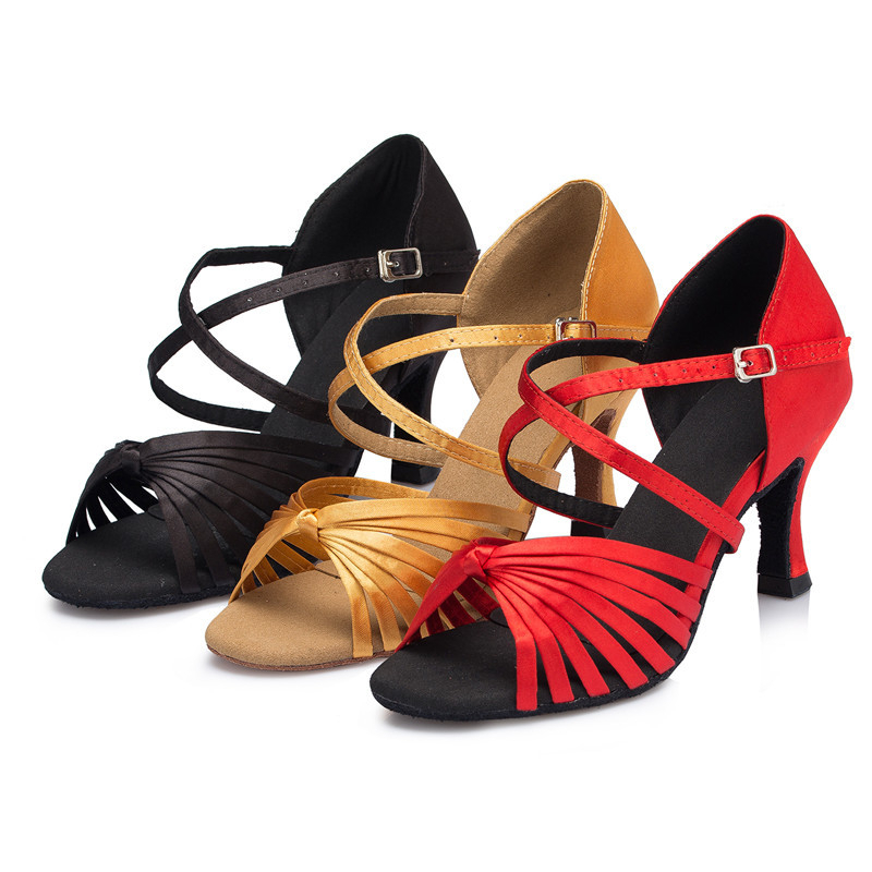 Buy Brand Salsa Dance Shoes For Women Girl Knot Latin Ballroom Tango Dance  Shoes Customize Heel Plus Size 33-43 Red Brown Black L073 in Cheap Price on  ... 412034ea24da