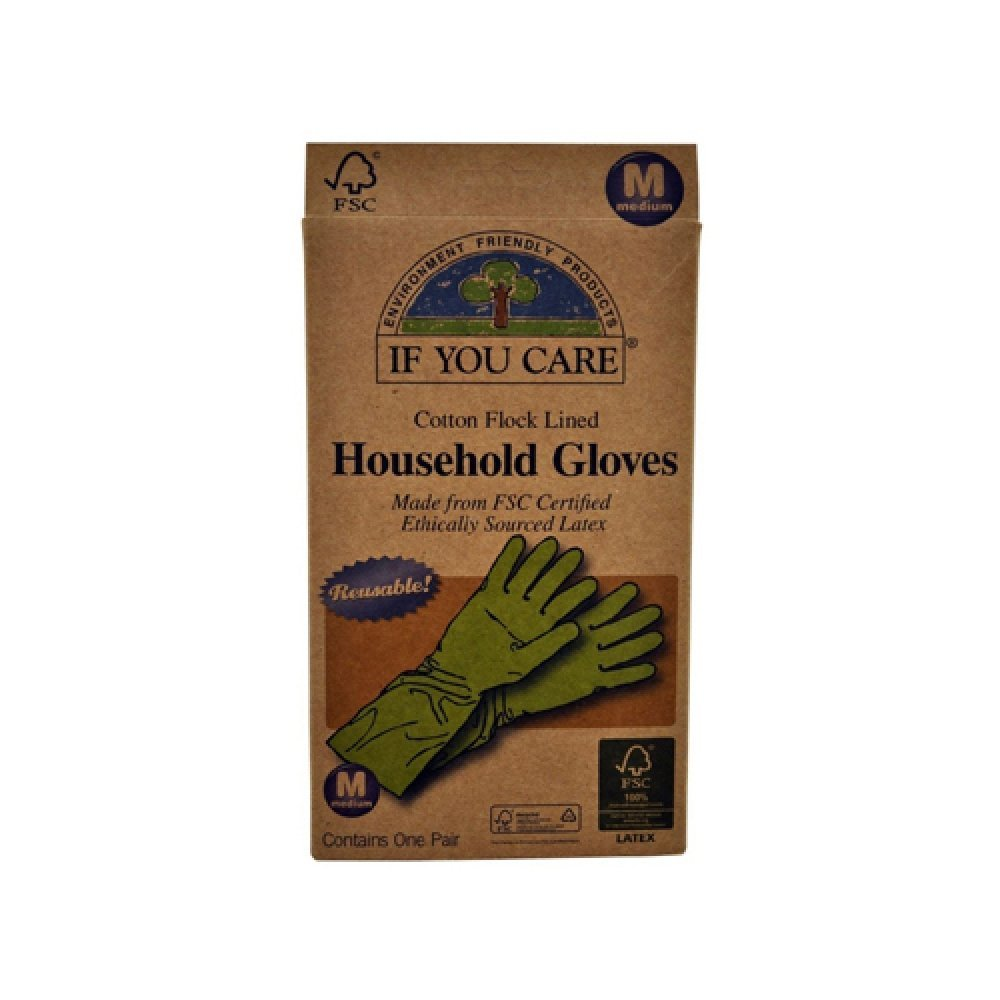 Wholesale If You Care Household Gloves - Medium - 12 Pairs, [Household Cleaners, Cleaners]