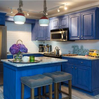 Azul Cielo De Nueva Cocina Americana Diseño Para El Hogar Gabinete De  Cocina Foshan Hizo - Buy Armario De Cocina,Cocina Casera,Armario De Cocina  ...