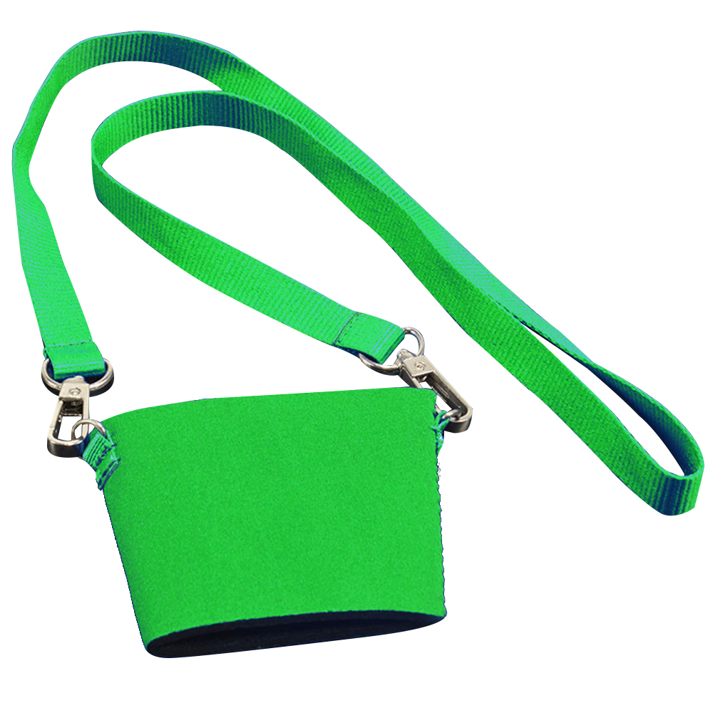 China Printed Neck Strap Polyester Nylon Custom Lanyard  With Neoprene Cup Holder