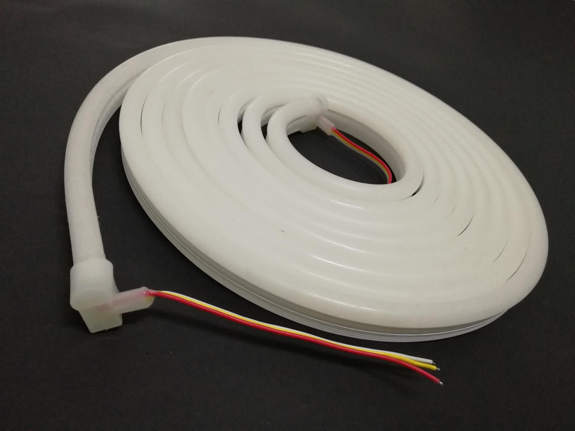 12V 24V silicone led flexible neon strip light color changing led flex neon