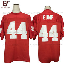 BONJEAN FORREST GUMP 44 The Movie Red Sewn American Football Jersey Mens  Shirts a2f70a3d0