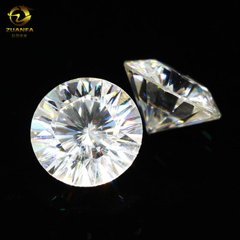 Wholesale Price Synthetic Gems 3CT 9MM Round Faceted Precious Moissanite Stones For Sale